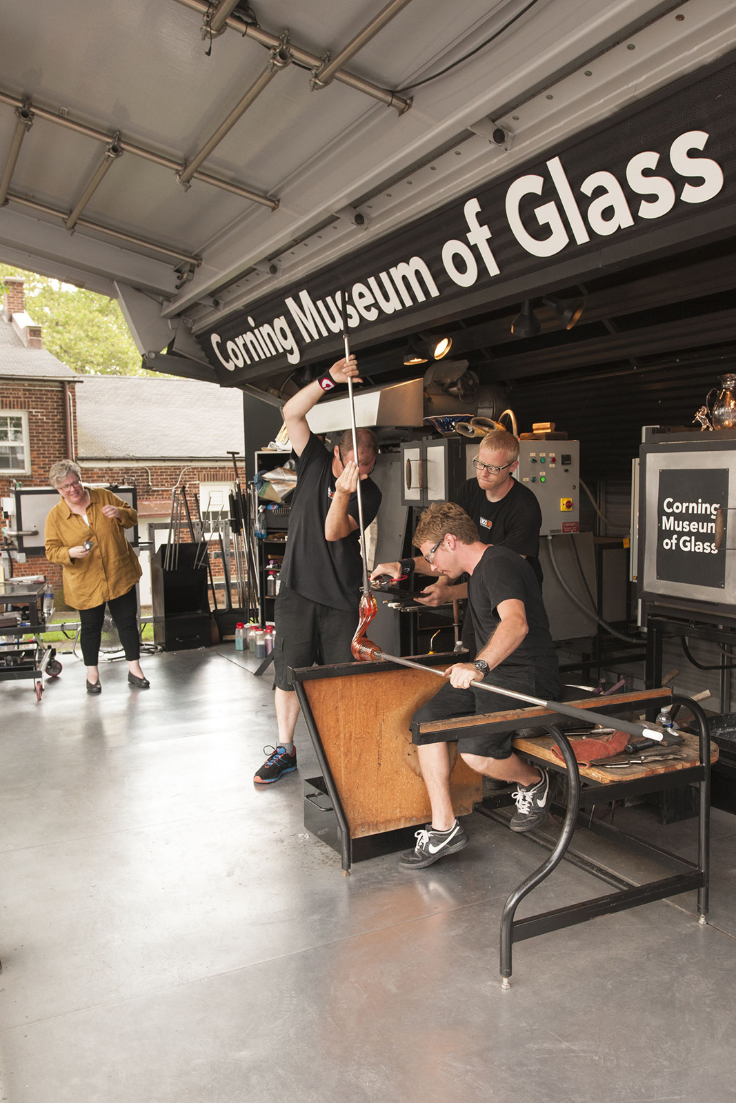Designer Q Cassetti at GlassLab on Governors Island, July 2012