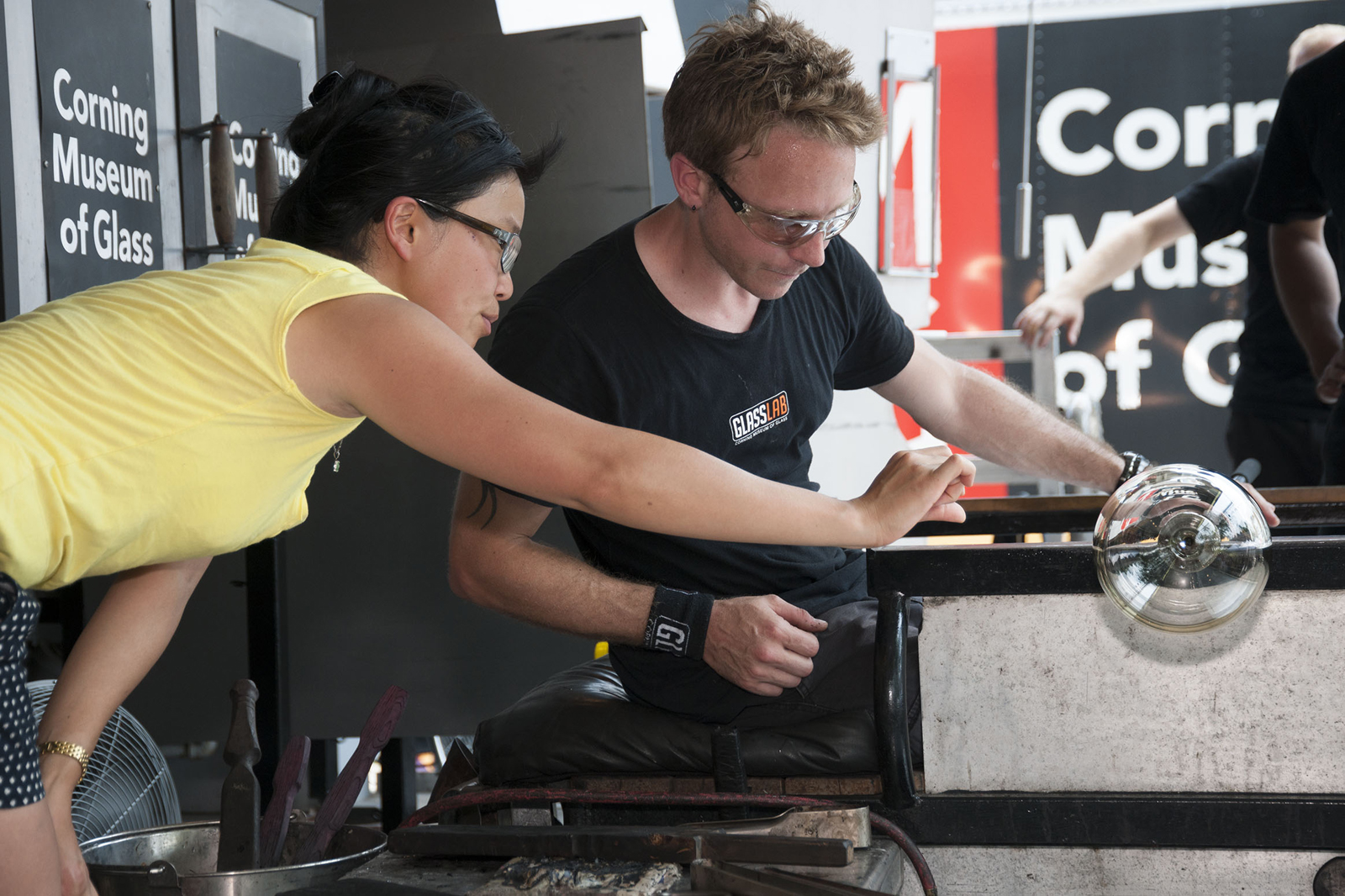 Designer Helen Lee at GlassLab on Governors Island, July 2012