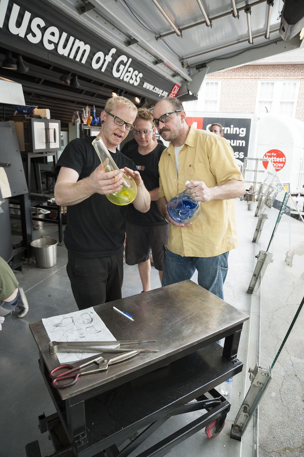 Designer James Victore at GlassLab on Governors Island, July 2012