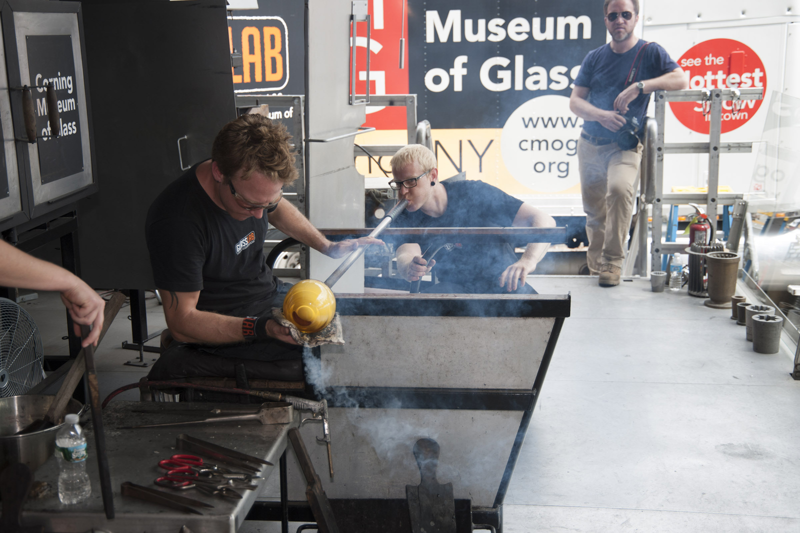 Peter Buchanan Smith at GlassLab on Governors Island, July 2012