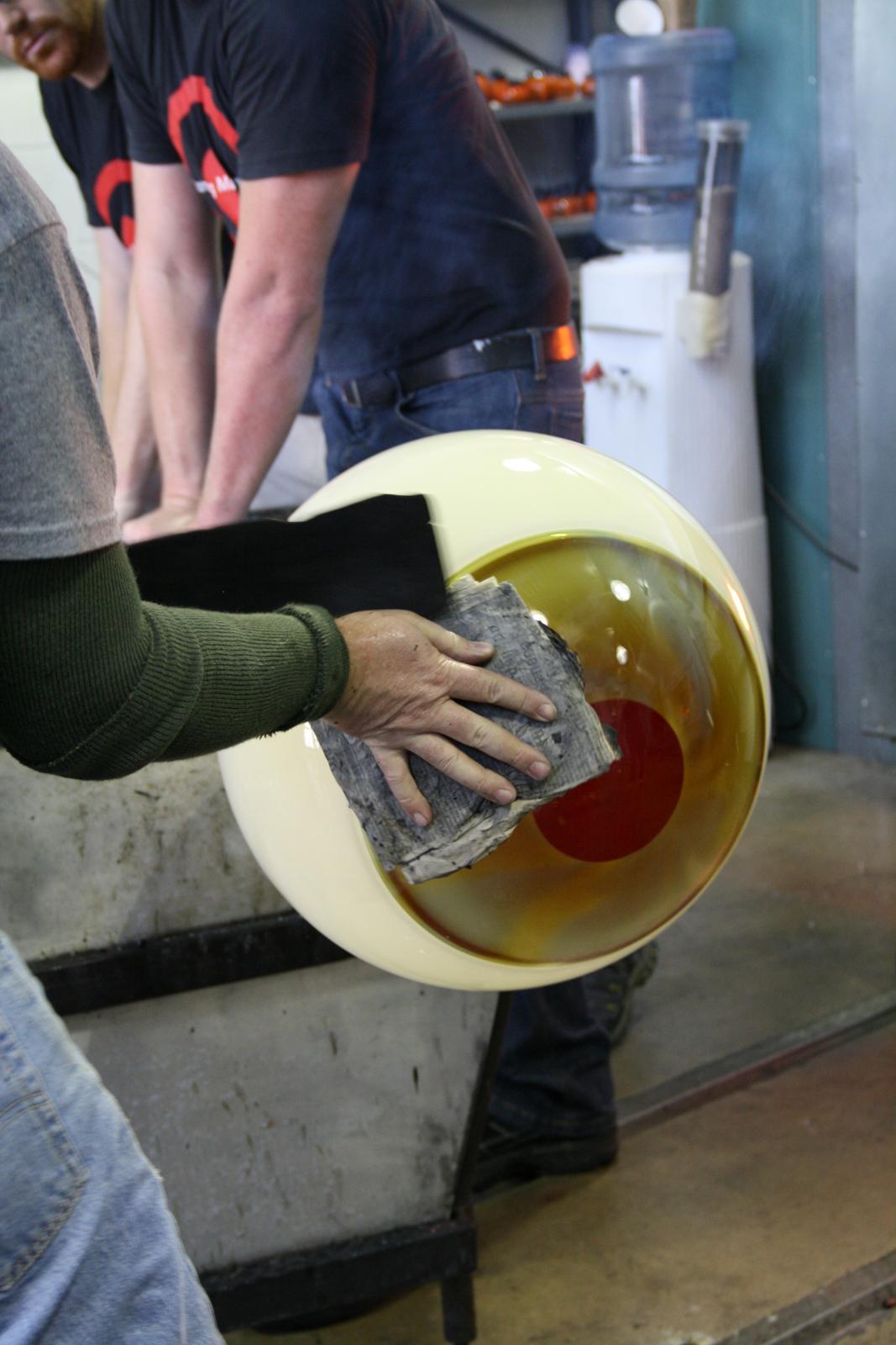 Designer Sigga Heimis in a GlassLab session in Corning, May 2012