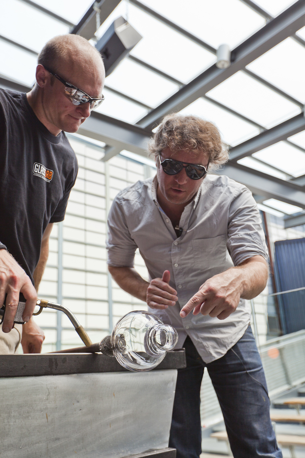 Designer Jason Miller at GlassLab in Corning, June 2012