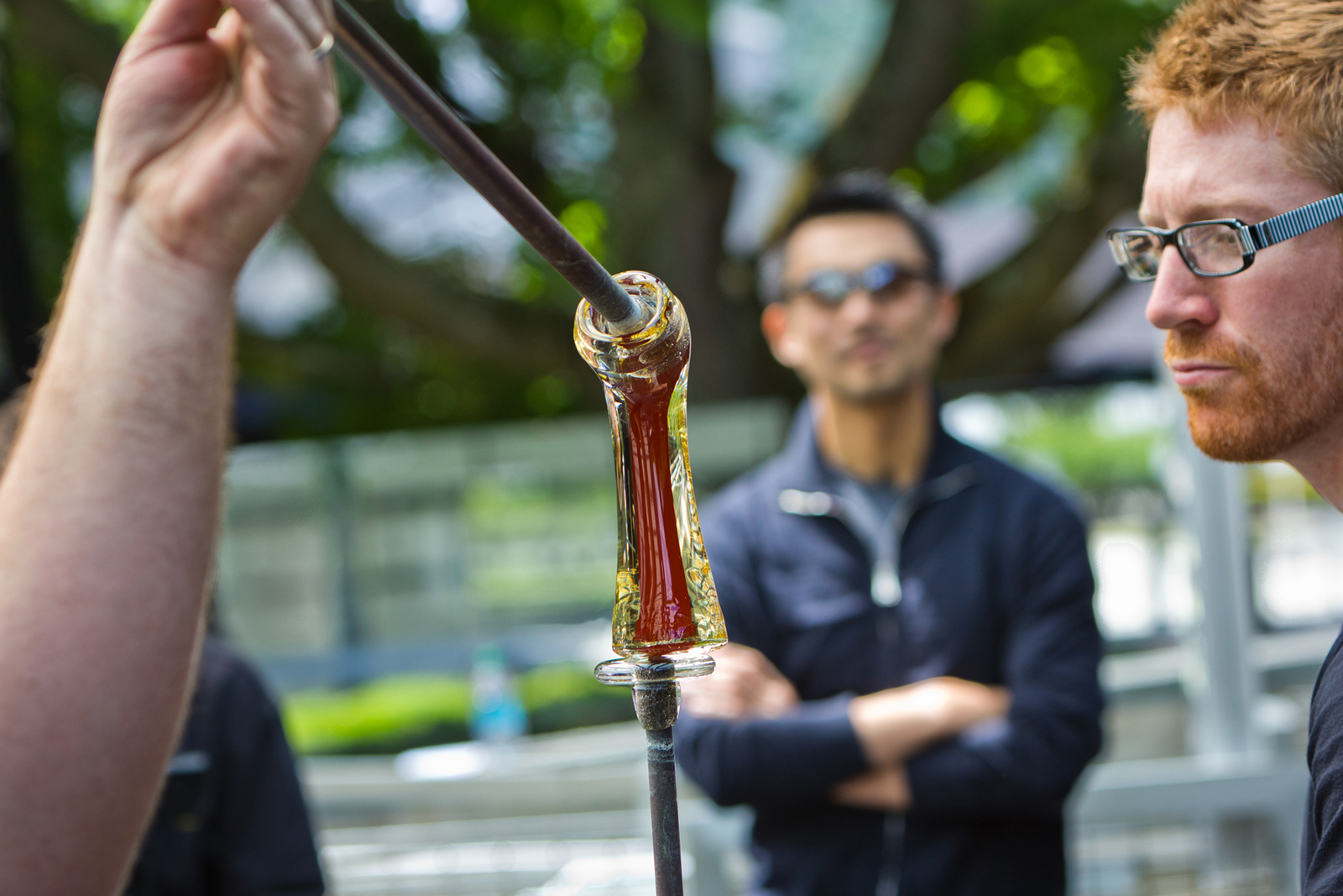 Designer Masamichi Udagawa at GlassLab in Corning, June 2012