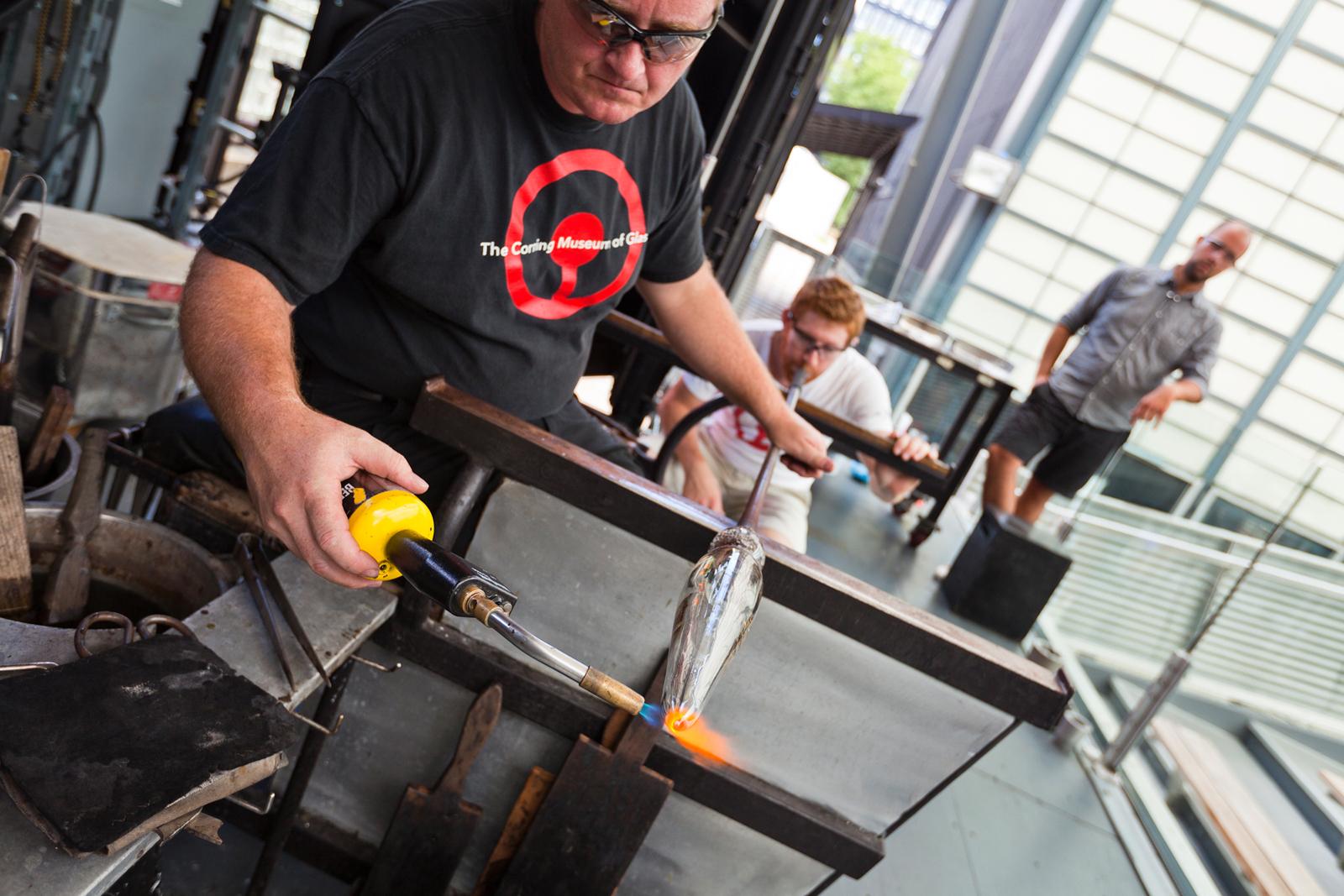Designer Tom Scott at GlassLab in Corning, July 2012
