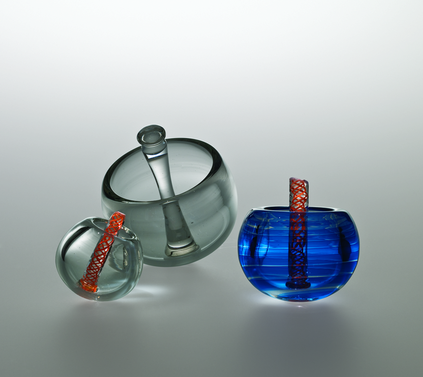 Prototypes by designer René Küng at GlassLab at Art Basel 2011