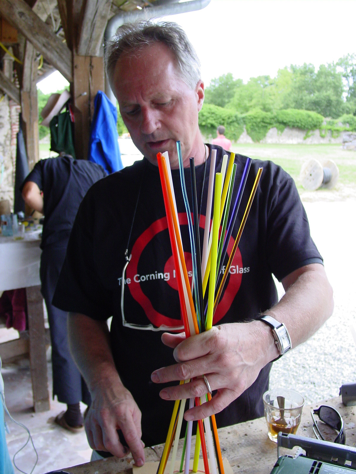 Paul Haigh at the Liquid Fusion Workshop at Boisbuchet 2006