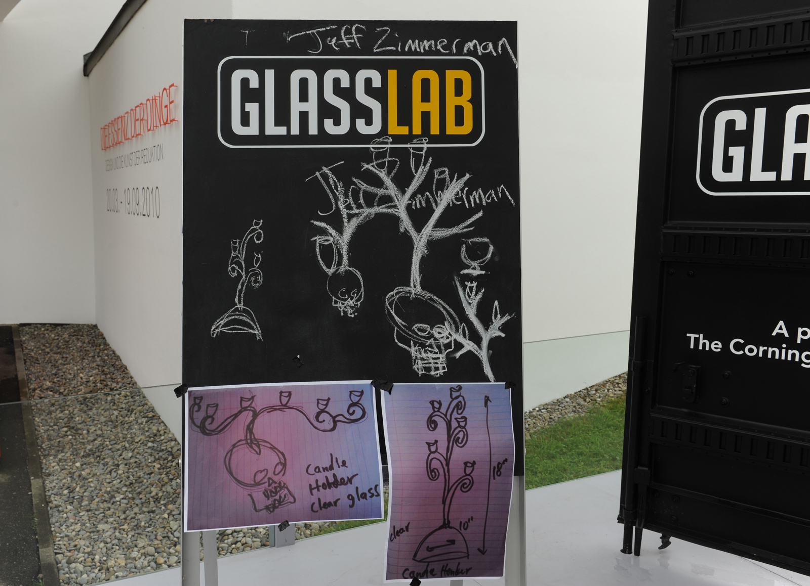Designer Jeff Zimmerman at GlassLab