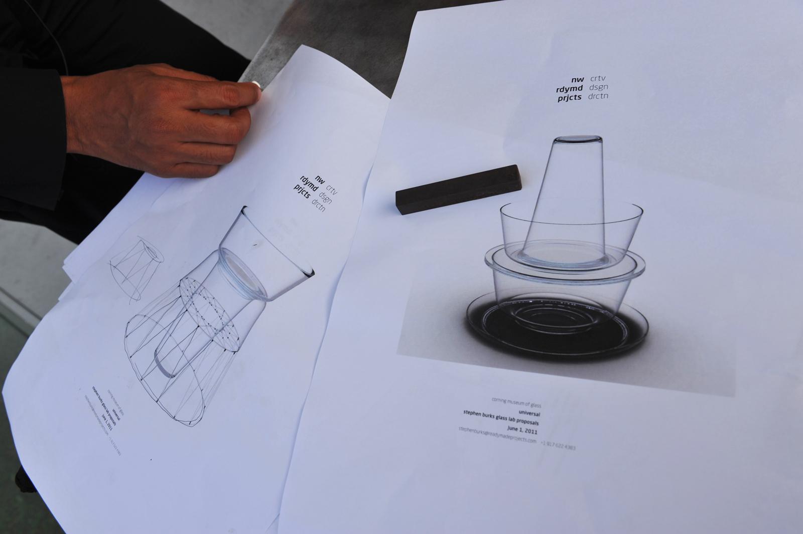 Designer Stephen Burks at GlassLab at Vitra Design Museum, Art Basel 2011