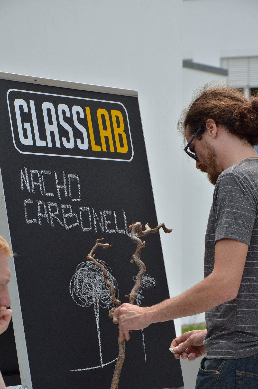 Designer Nacho Carbonell at GlassLab Art basel 2010 at Vitra Design Museum