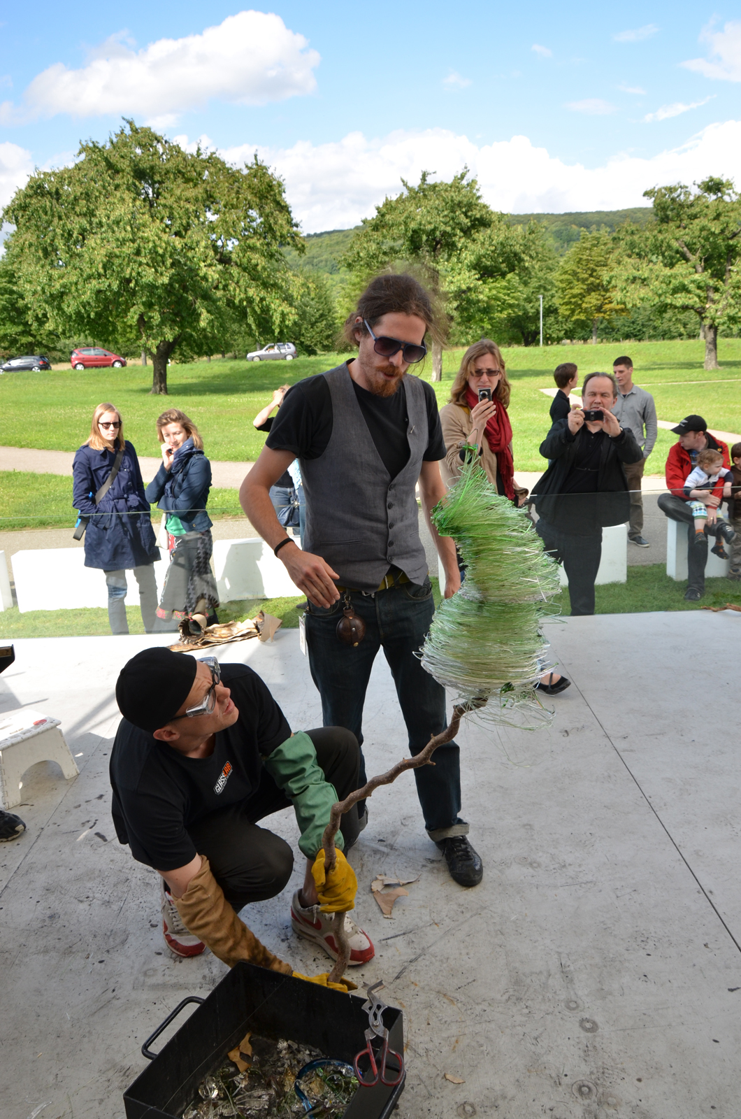 Designer Nacho Carbonell at GlassLab Art basel 2010 at Vitra Design Museum