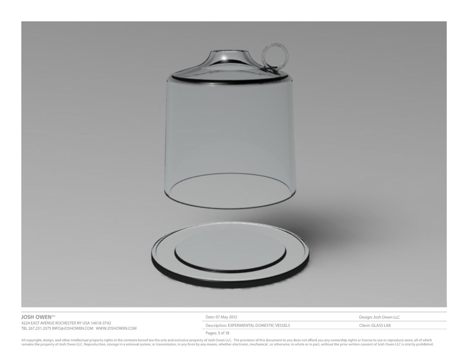 Design concept by Josh Owen for GlassLab in Corning, 2012