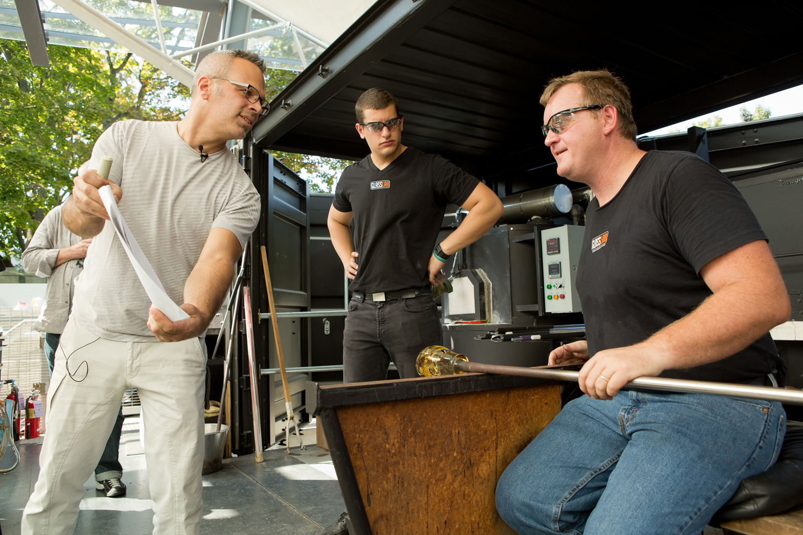 Harry Allen at GlassLab in Corning, August 2012