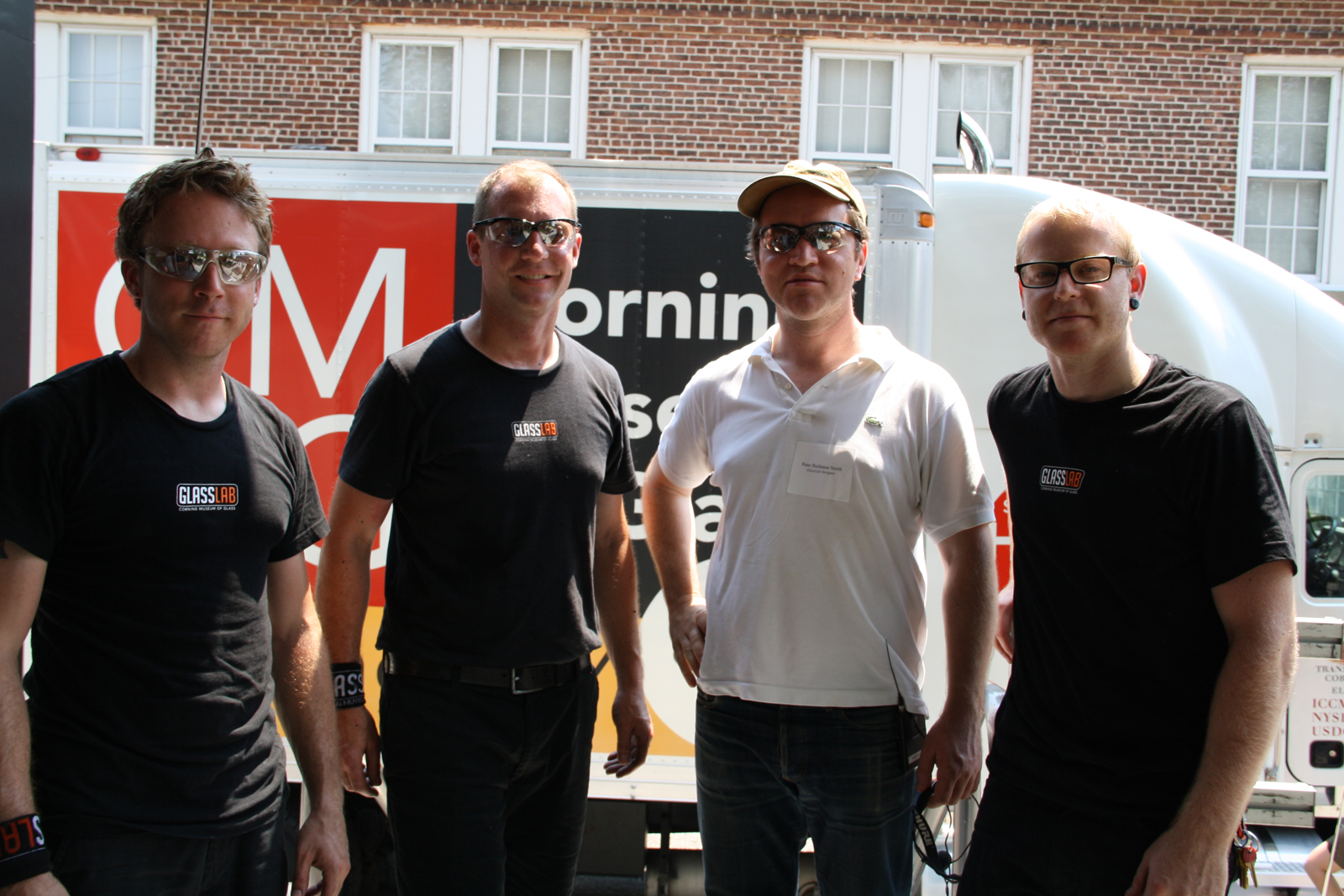 Designer Peter Buchanan-Smith with gaffers Chris Rochelle, Eric Meek and Adam Holtzinger
