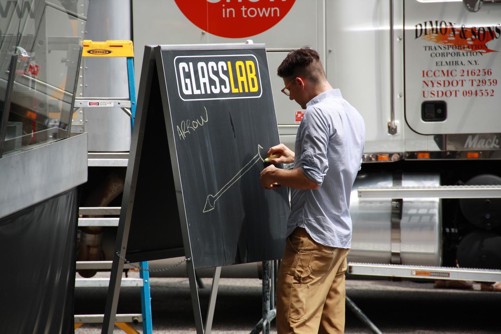 Designer JK Keller at GlassLab on Governors Island