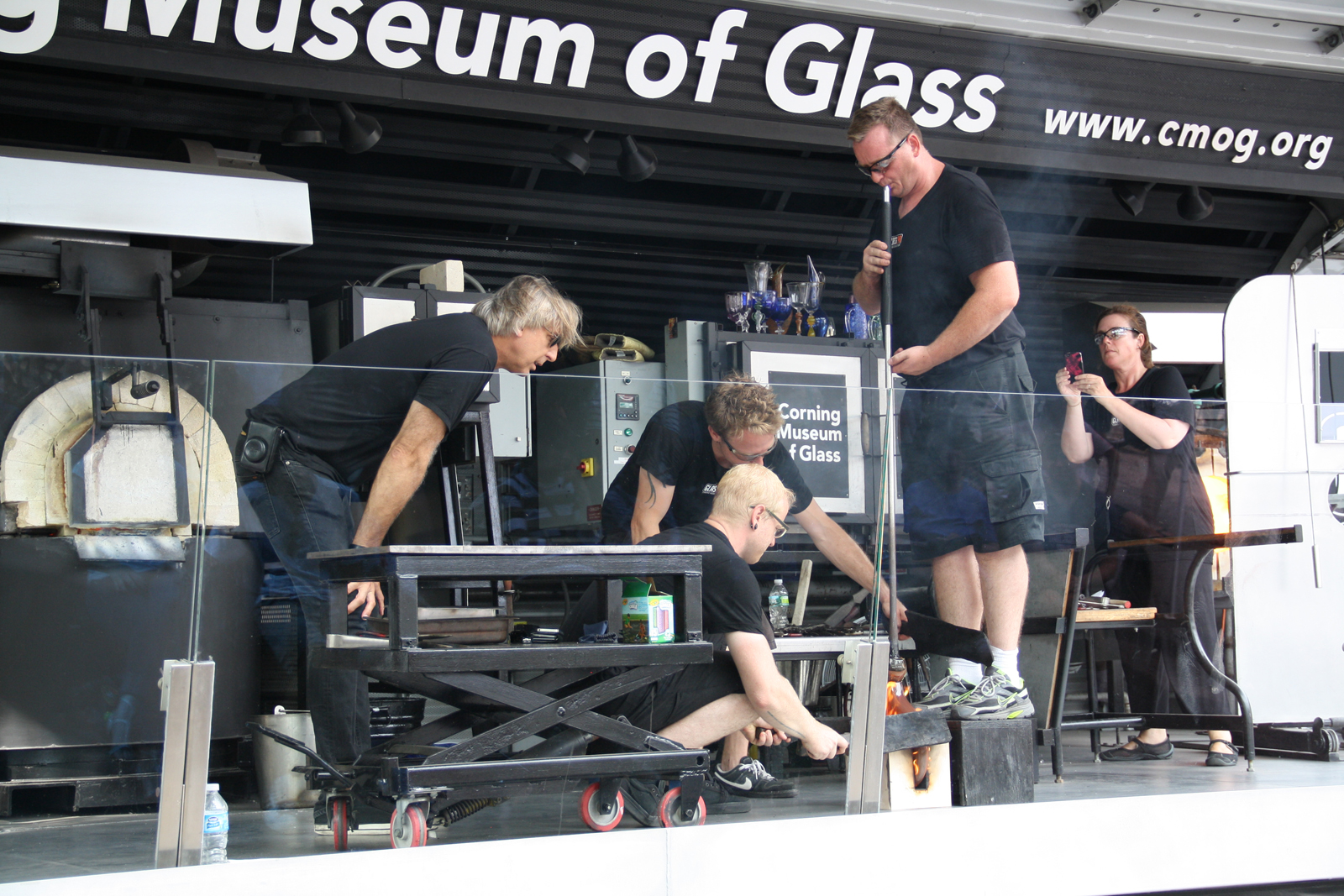 Designer Jon Otis at GlassLab at Governors Island