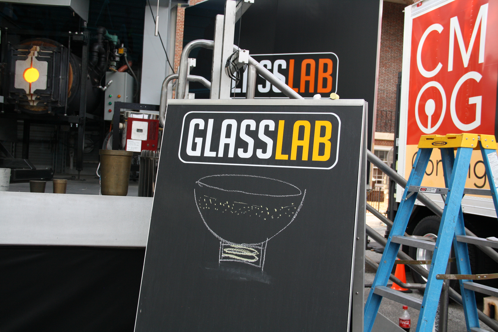 Designer Judy Smilow at GlassLab at Governors Island, July 15, 2012