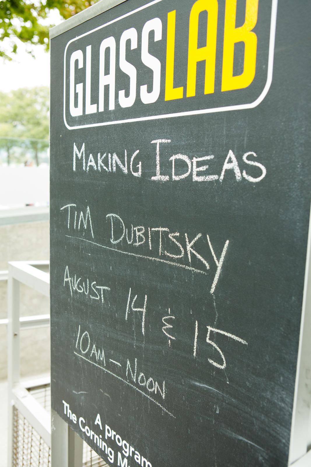 Tim Dubitsky at GlassLab in Corning, August 2012