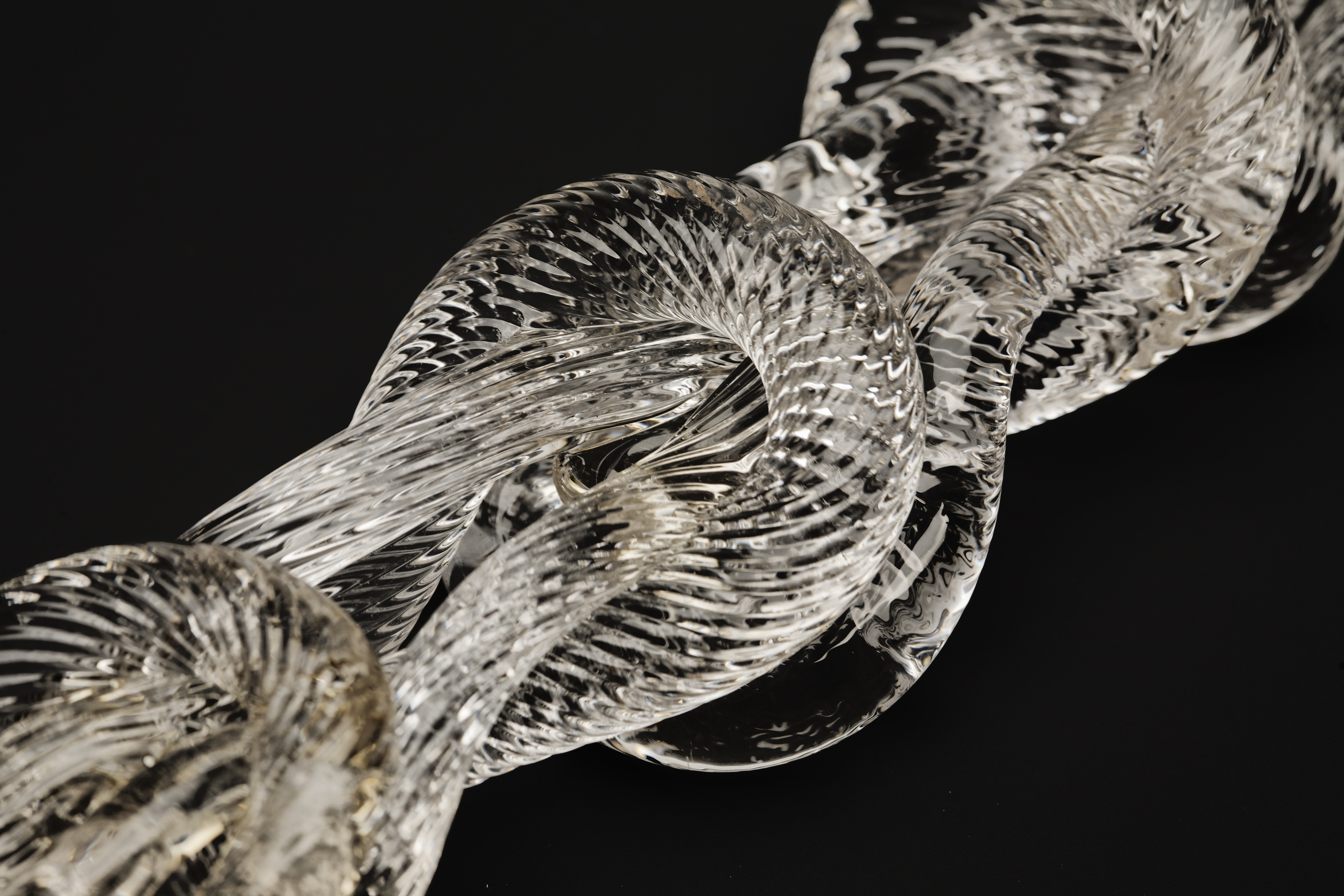 Glass chain prototype by designers Tobias Wong and Tom Scott