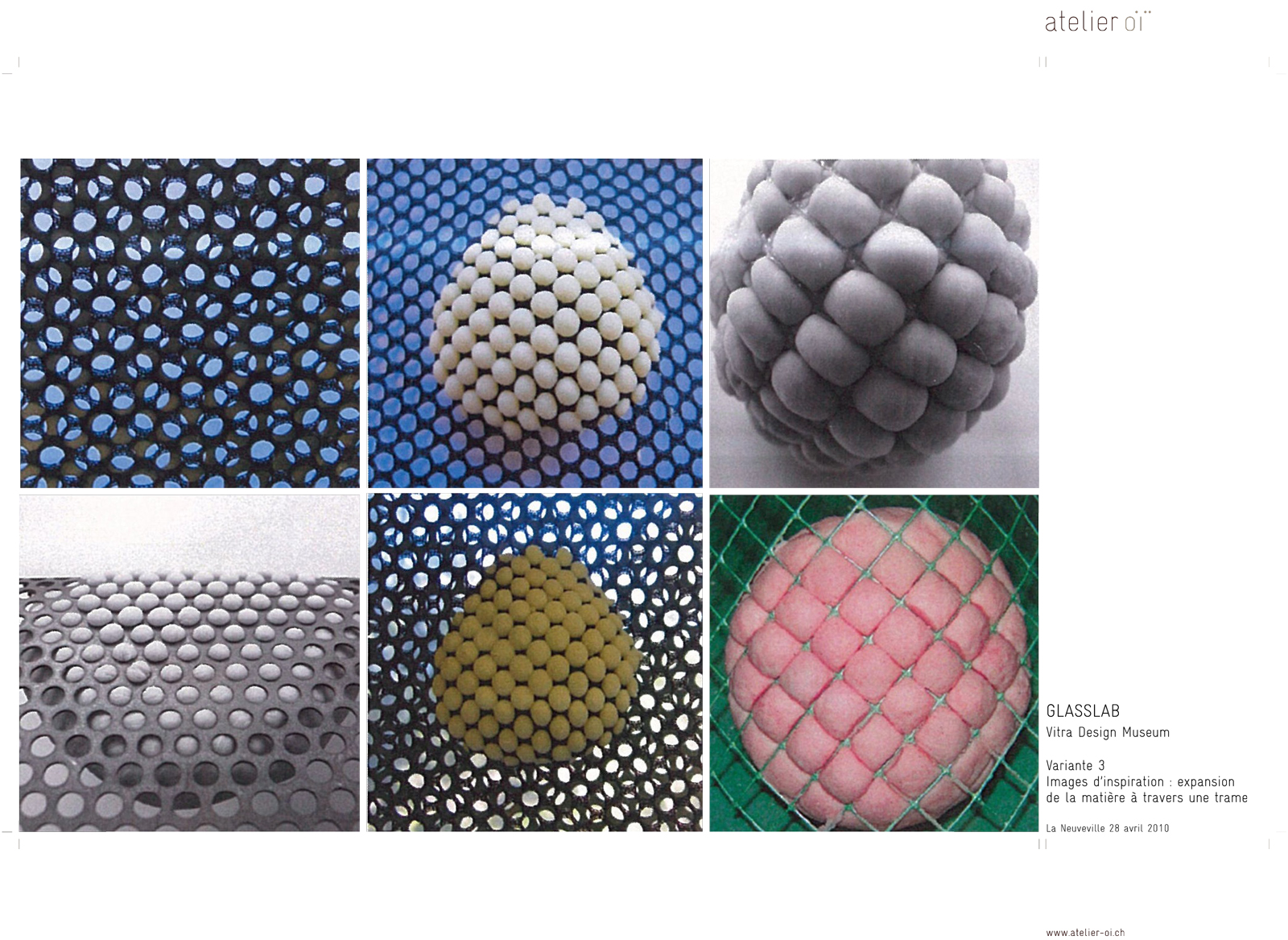 Atelier Oï GlassLab design program