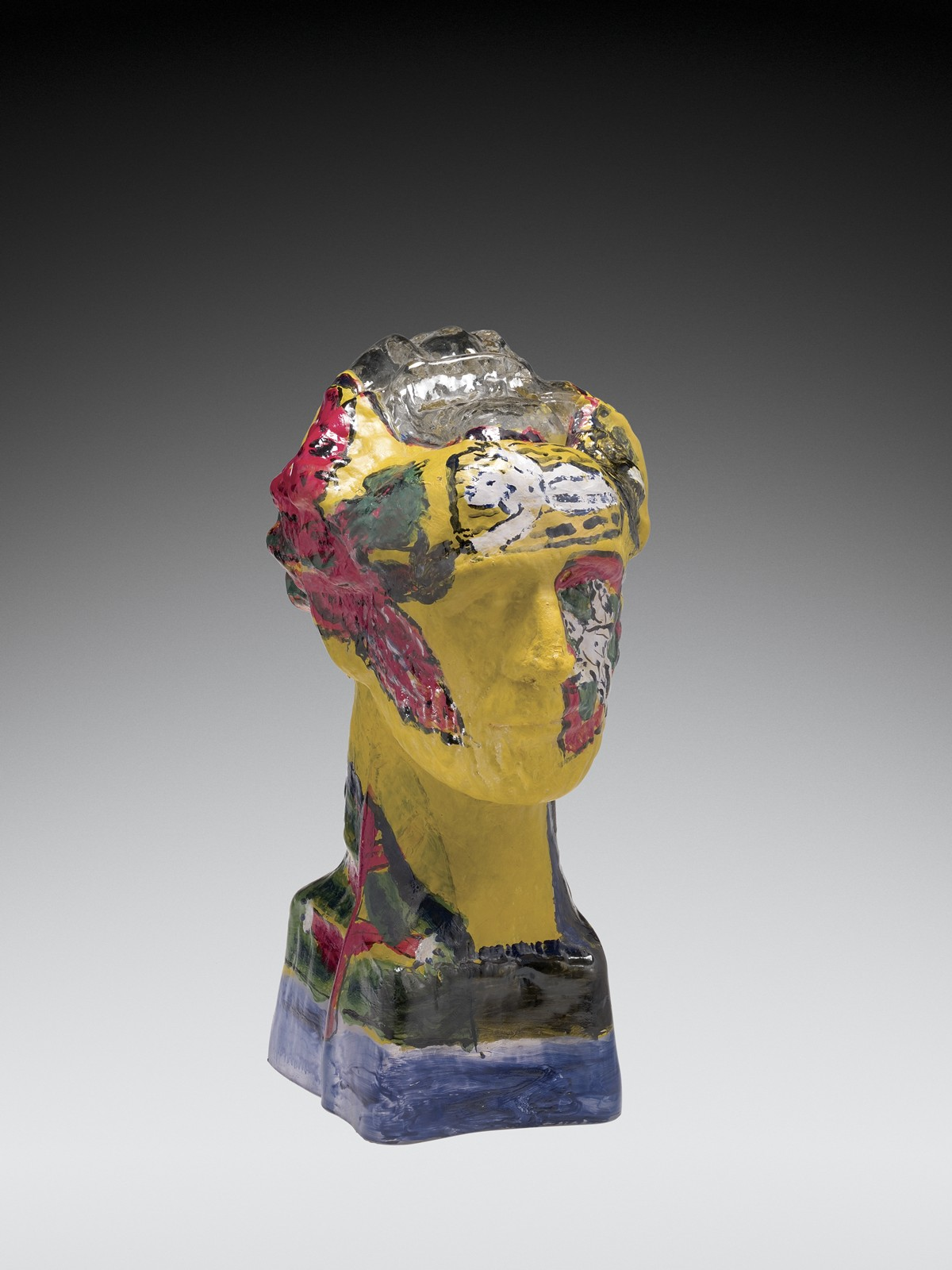 Self-Portrait, Germany, Frauenau, 2002. Mold-blown glass, enameled. Overall H: 49 cm, W: 23 cm, Diam: 30 cm (2008.3.27).