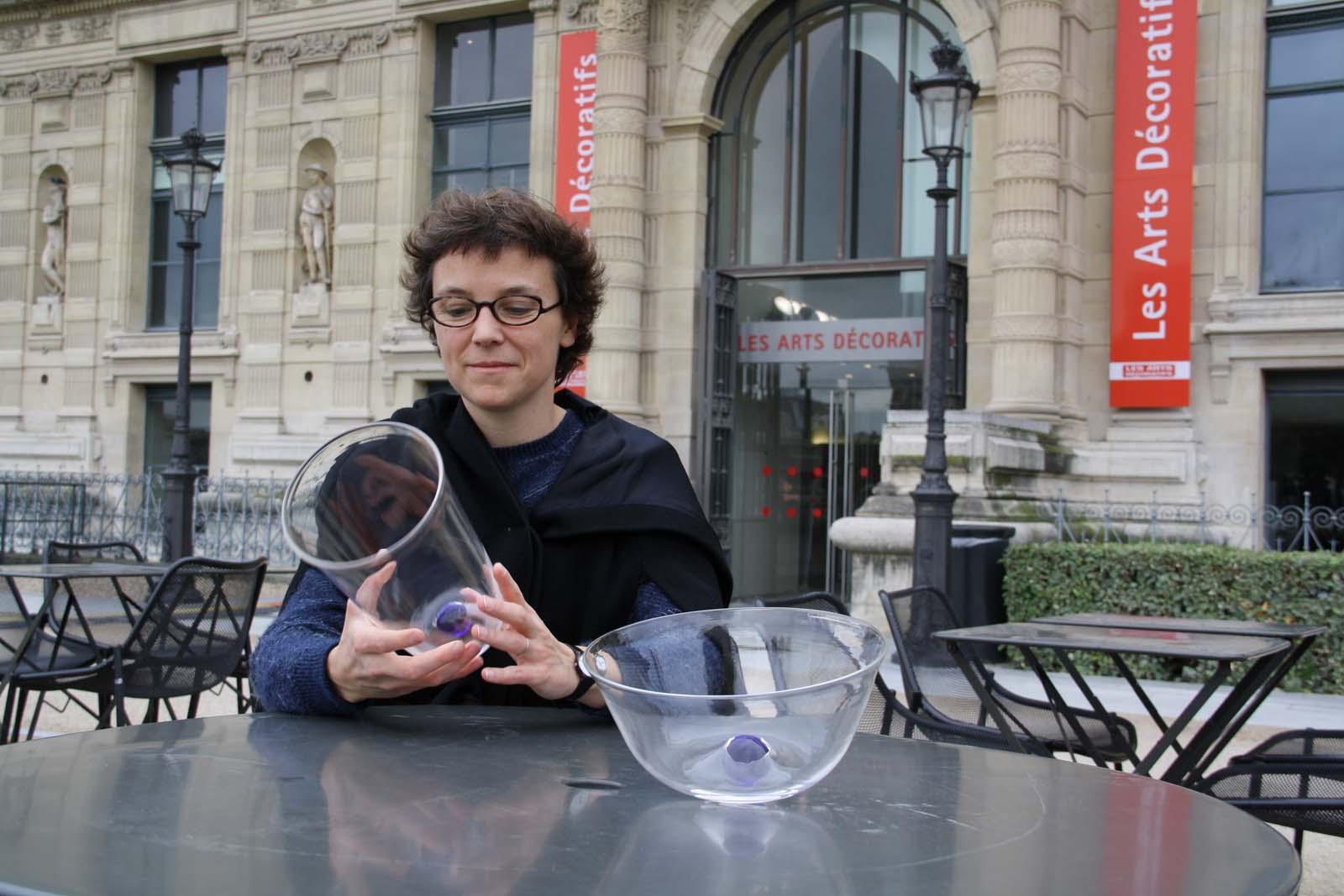 Designer Constance Guisset in a GlassLab design session in Paris, 2013.