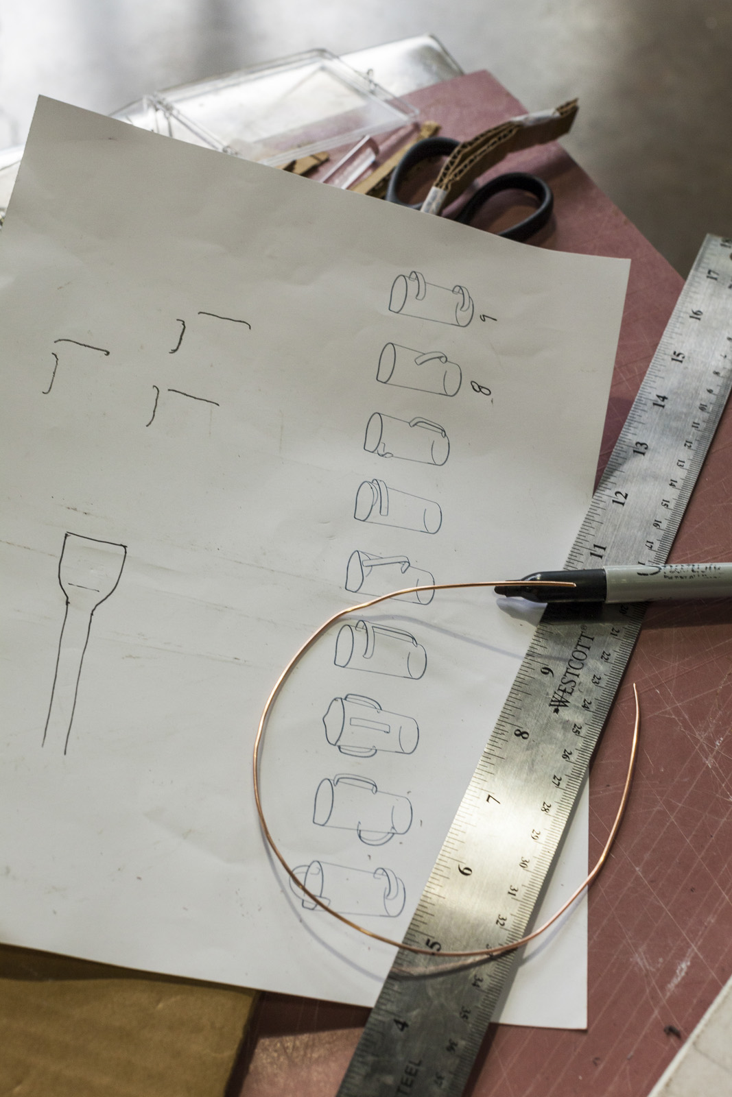 Design sketch for Nine Ways to Use a Pitcher, designed by Leon Ransmeier for GlassLab