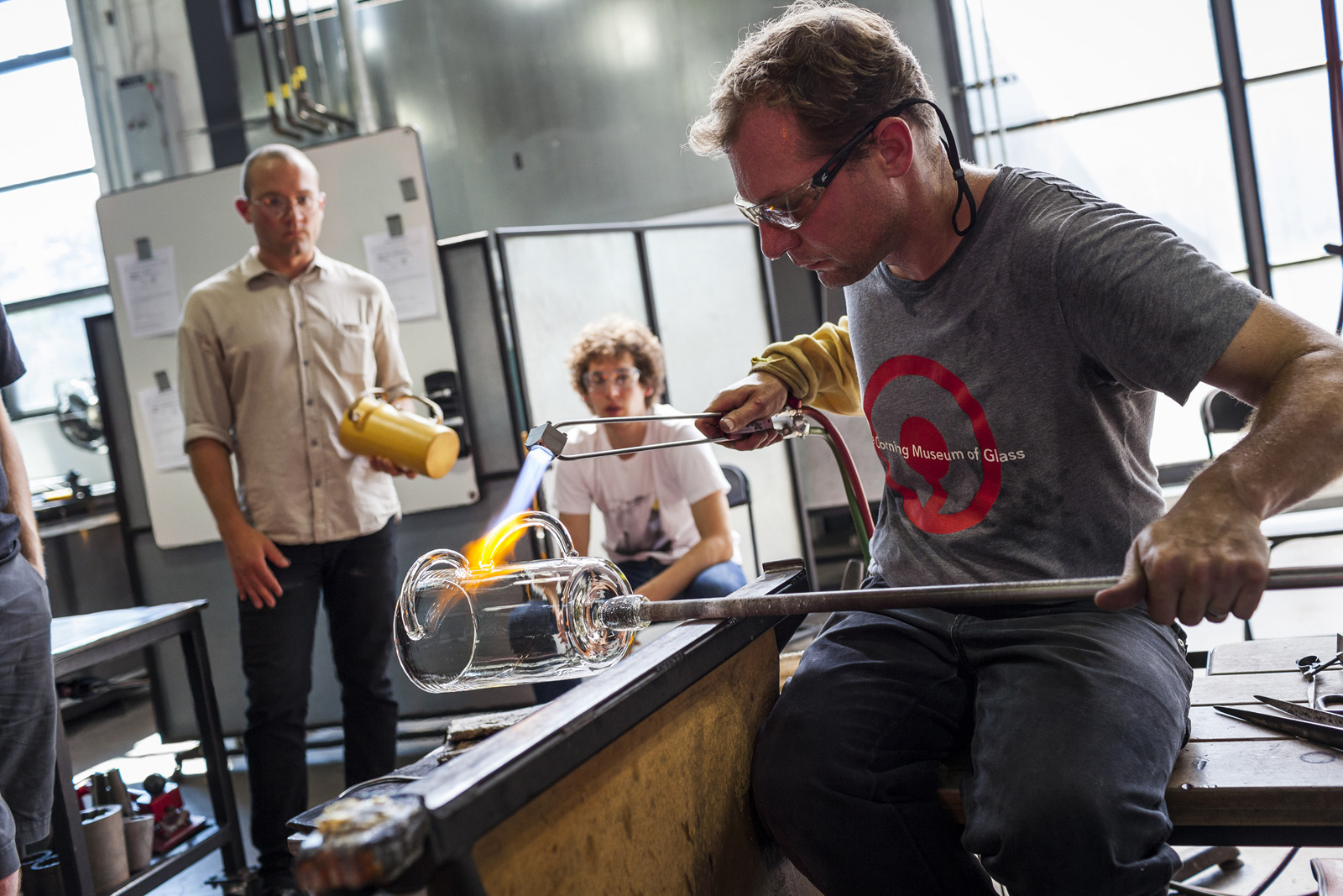 Designer Leon Ransmeier at GlassLab in Corning, August 2013