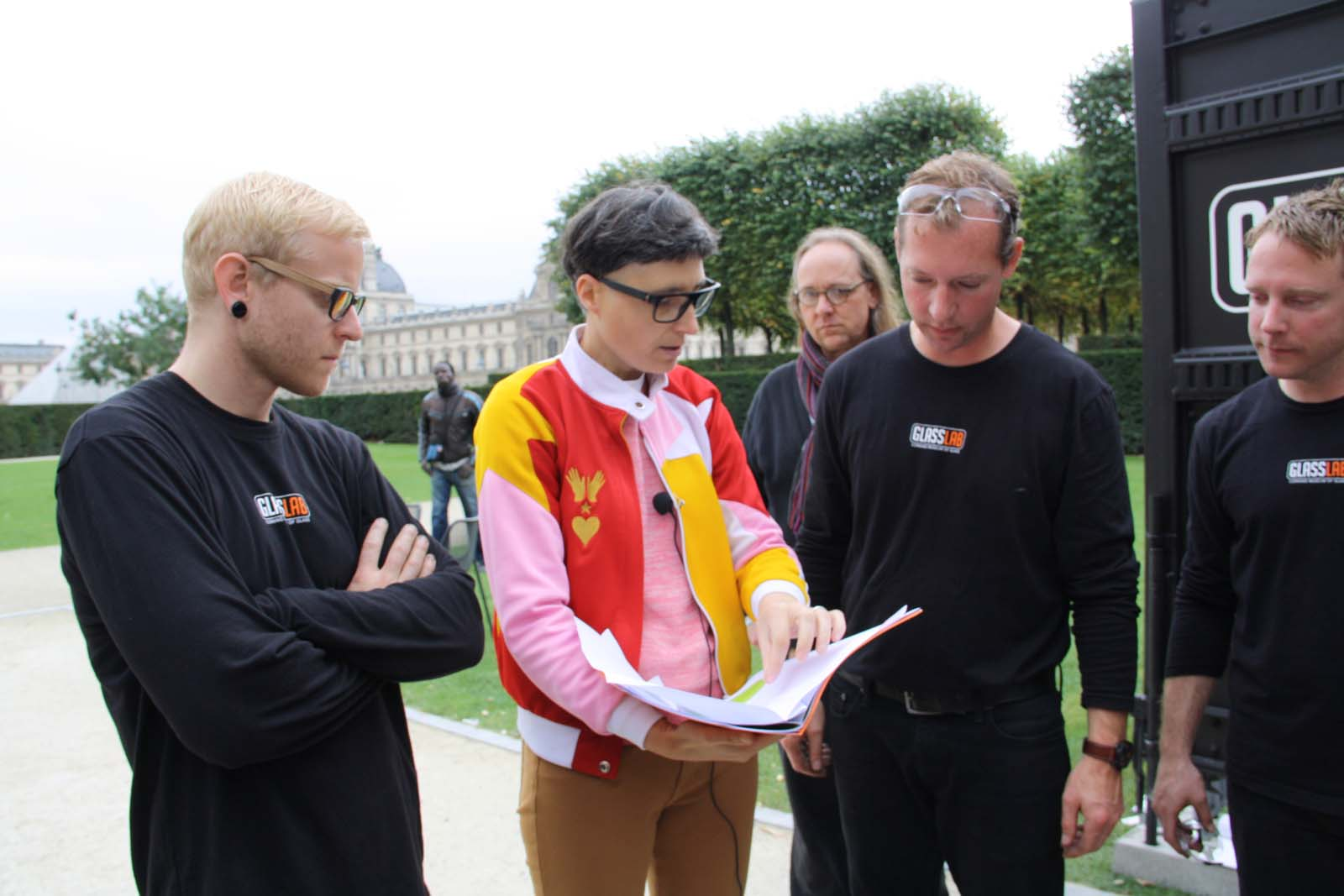 Designer Matali Crasset in a GlassLab design session in Paris, 2013.