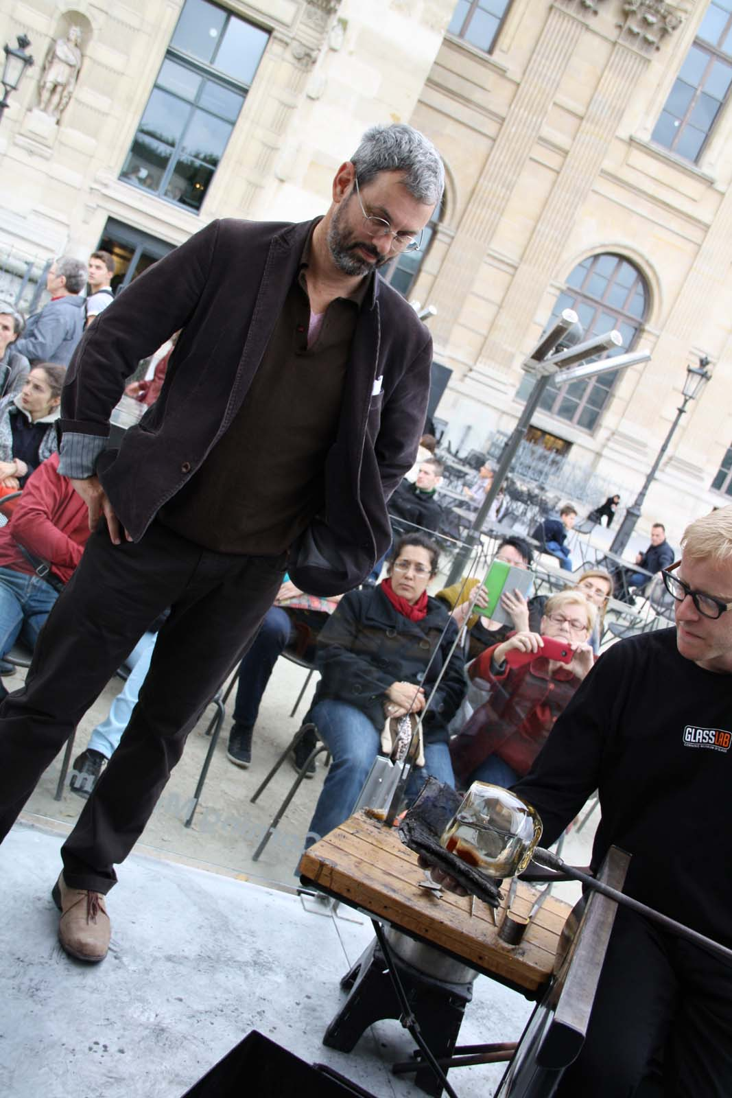Designer Didier Tisseyre in a GlassLab design session in Paris, 2013.