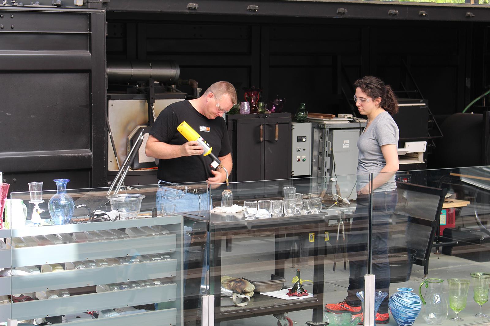 Designer Bridget Sheehan at GlassLab