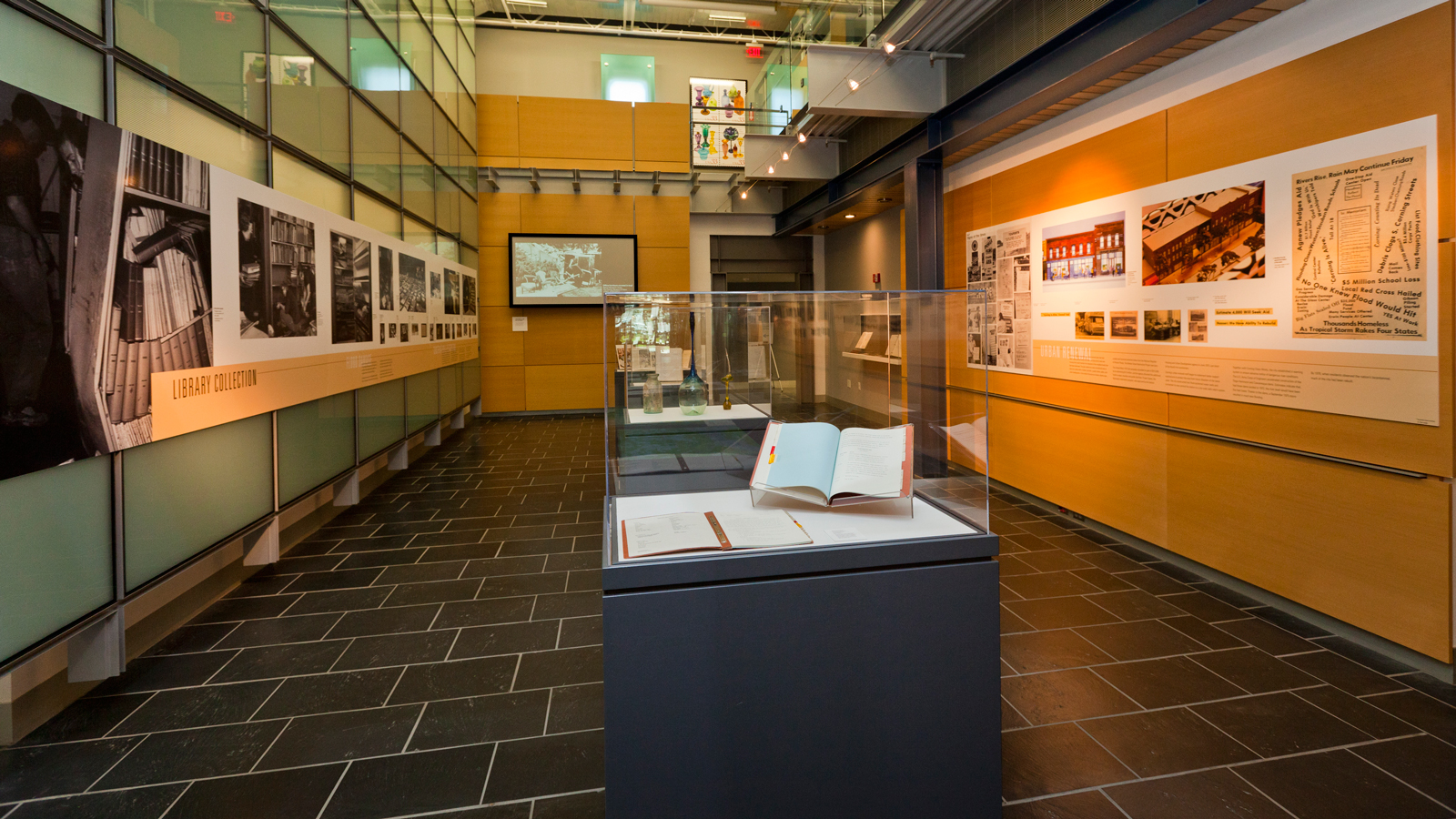 The Flood of '72: Community, Collections, and Conservation exhibition space
