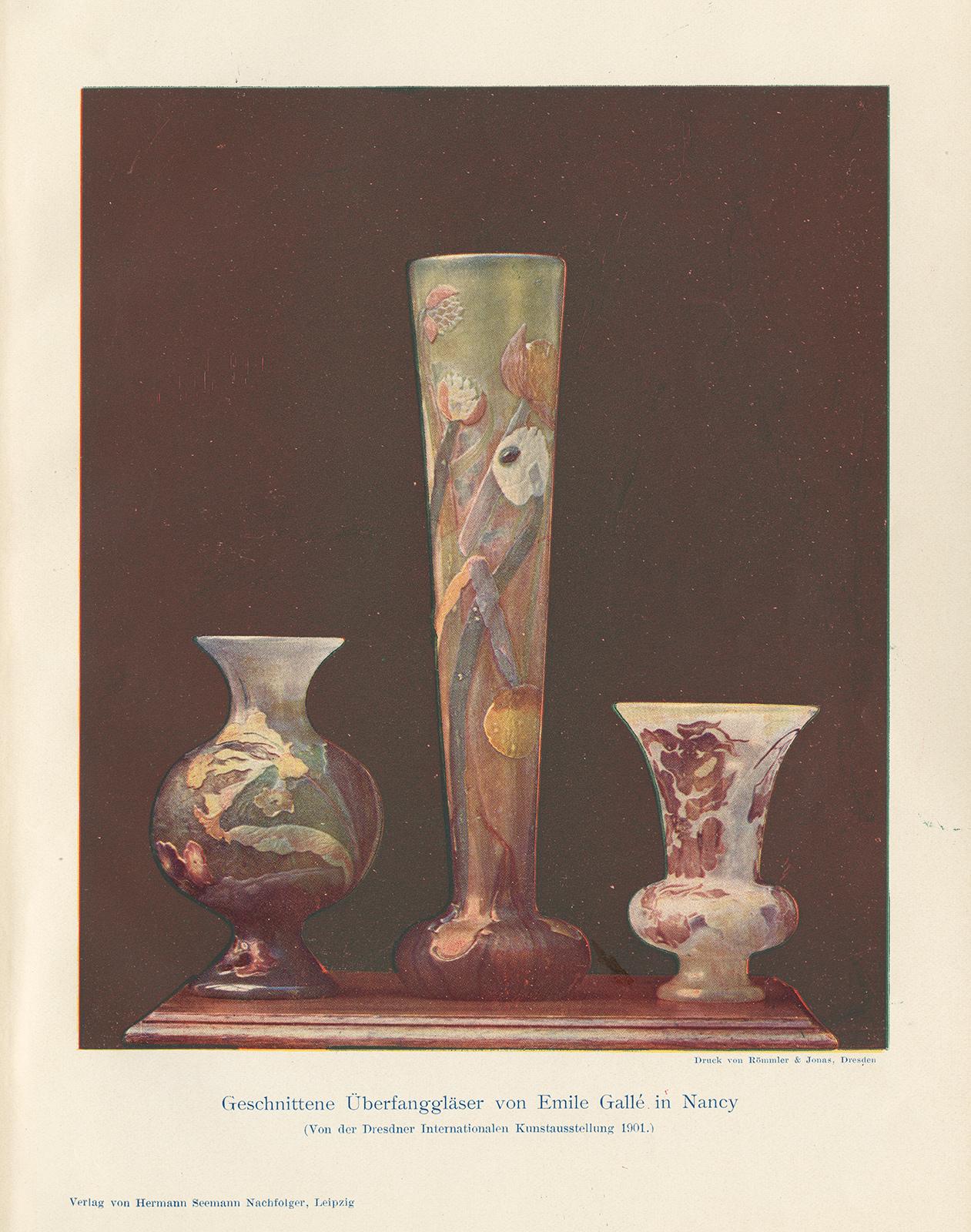 Decorative glass vases keller art art nouveau vase art for Architectural glass art