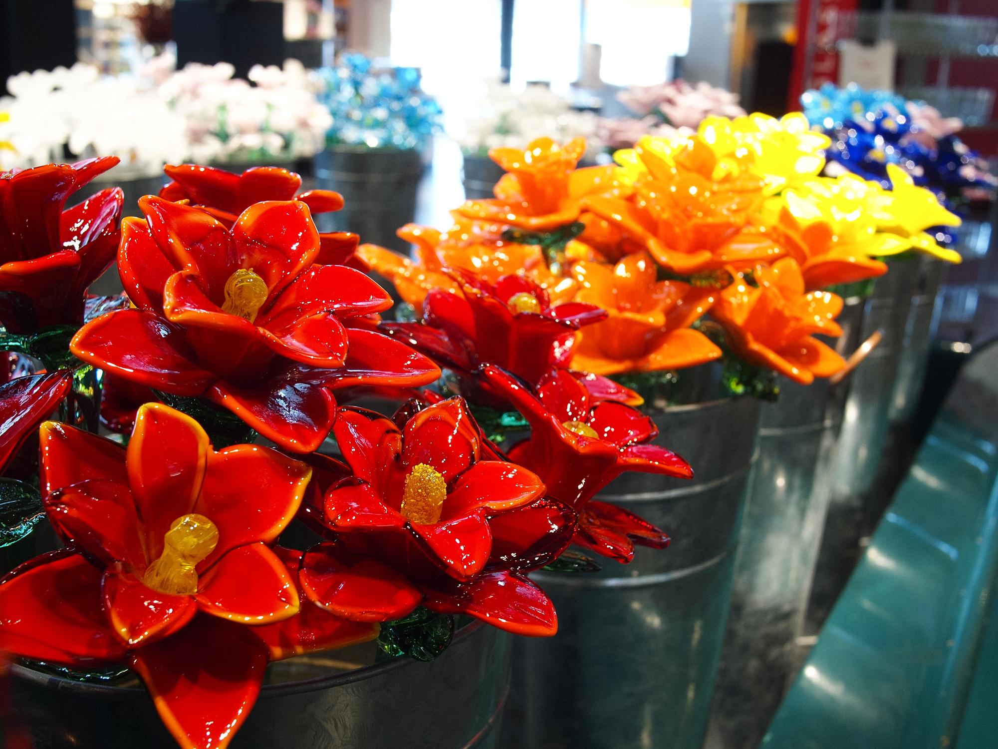 Corning Glass Flowers