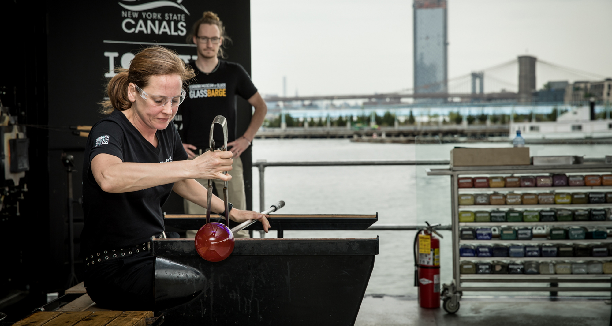 Glassblowing on GlassBarge in Brooklyn (2018)