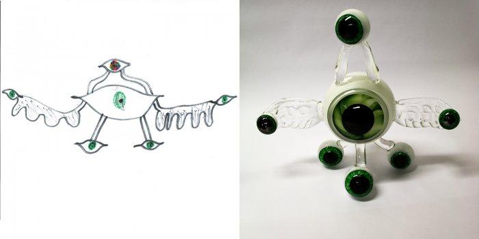 Alien with Eyes designed by Devon; made by George Kennard