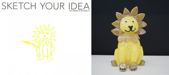 Lion designed by Erin; made by Helen Tegeler