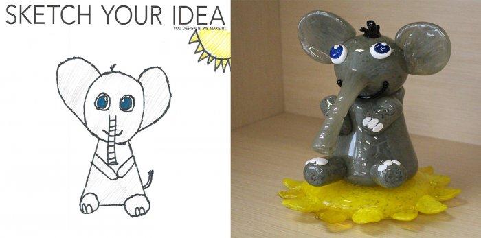 Elephant designed by Killian; made by Jamie Perian