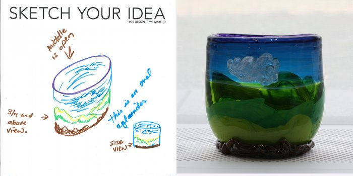 Landscape Cup designed by LuAnne; made by Heather Speiwak