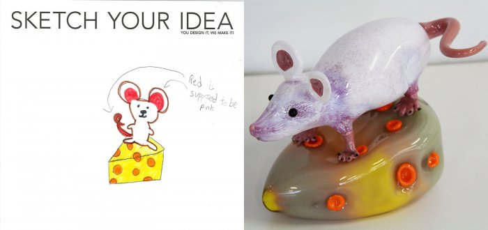 Mouse and Cheese designed by Megan; made by George Kennard