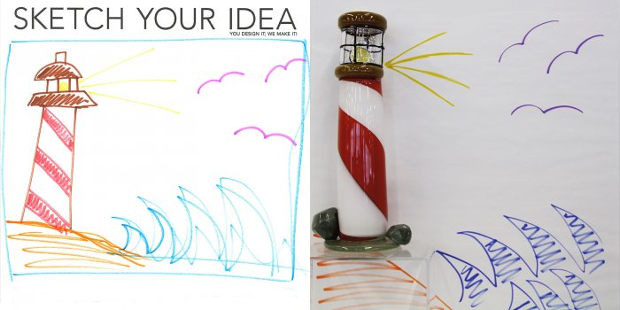 Lighthouse designed by Rae; made by Chris Rochelle