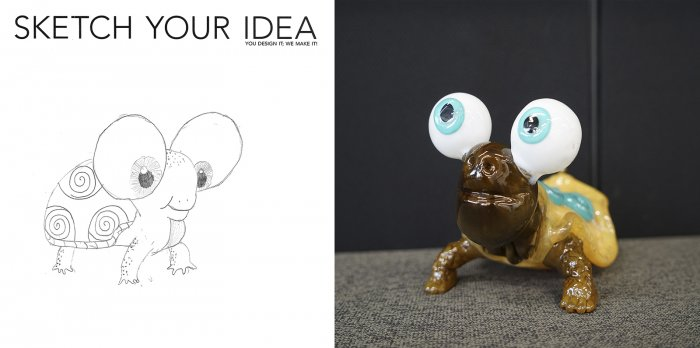 Cartoon Frog designed by Phoenix; made by Chris Rochelle