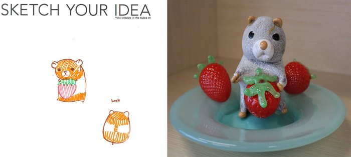 Hamster designed by Sabrina; made by Megan Mathie