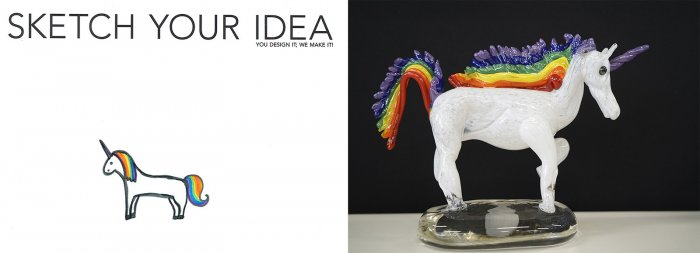 Unicorn designed by Liberty; made by Chris Rochelle