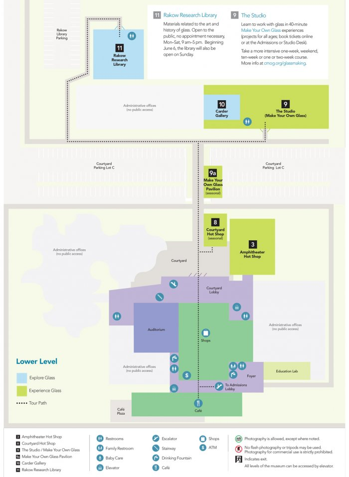 Corning Museum Of Glass Campus Map