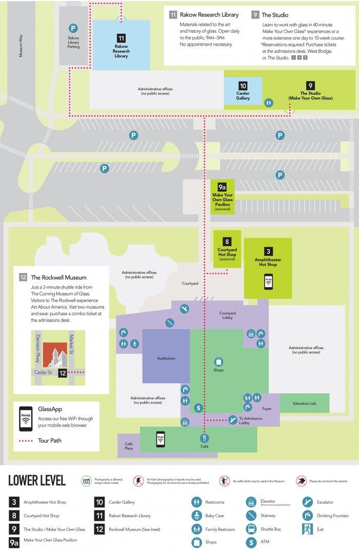 Floor Plan Corning Museum of Glass