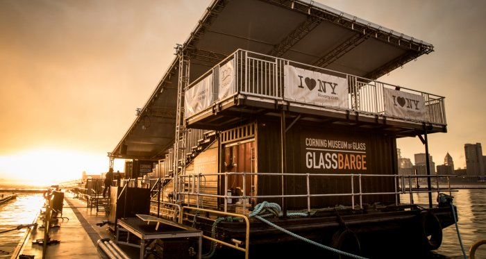 GlassBarge in Brooklyn at sunset (2018)