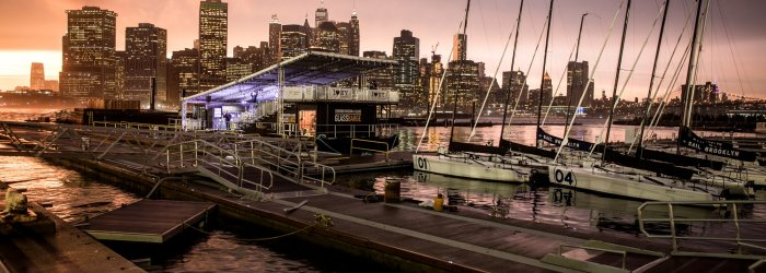 GlassBarge Launches in Brooklyn.