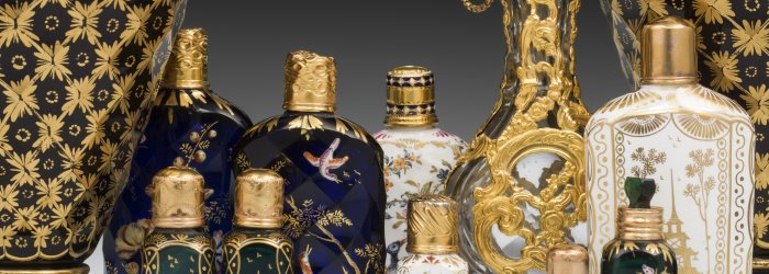 Scent flasks. England, 1760–about 1790. The Corning Museum of Glass.