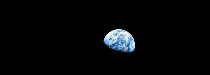 Earthrise is a photograph of Earth and some of the Moon's surface that was taken from lunar orbit by astronaut William Anders on December 24, 1968, during the Apollo 8 mission.