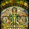 The Righteous Shall Receive a Crown of Glory detail 2 - Frederick Wilson for Louis Comfort Tiffany